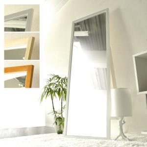スタンドミラー 全身 ミラー 鏡 ワイド 姿見 木製 幅60cm シンプル 北欧 モダン おしゃれ 全身鏡|air-r