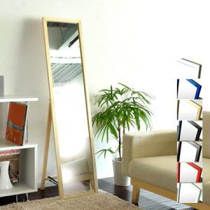 スタンドミラー 全身 ミラー スリム 全身鏡 鏡 姿見 シンプル 北欧 モダン 木製 おしゃれ 玄関 ドレッサー フレーム 木製スタンドミラー|air-r