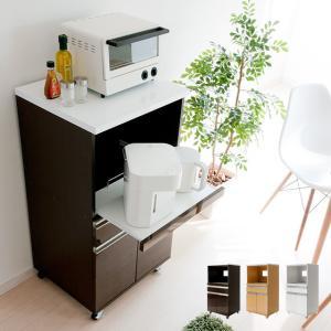 レンジ台 食器棚 キッチン 収納 キッチンラック レンジラック キッチンボード 北欧 おしゃれ シンプル 人気 木製 モダン 白 ホワイト ブラウン ナチュラルの写真