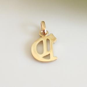 イニシャルペンダントトップ C K18ゴールド レディース |airejewelry