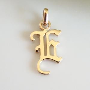 イニシャルペンダントトップ E K18ゴールド レディース |airejewelry