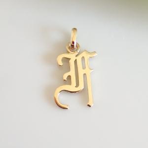 イニシャルペンダントトップ F K18ゴールド レディース |airejewelry