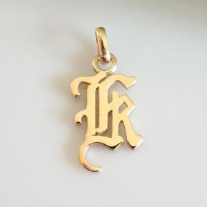 イニシャルペンダントトップ K K18ゴールド レディース |airejewelry