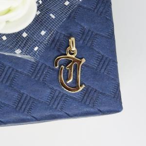 イニシャルペンダントトップ T K18ゴールド レディース |airejewelry