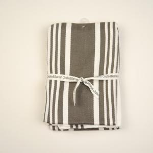 [SALE]〔タオル〕アメリカで大人気! Crate&Barrel Cuisine Stripe Grey Dish Towels ニューヨーク 買付 梅雨対策 グッズ |airleaf