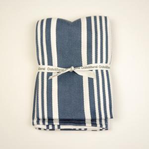 [SALE]〔タオル〕アメリカで大人気! Crate&Barrel Cuisine Stripe Indigo Dish Towels ニューヨーク 買付 梅雨対策 グッズ |airleaf