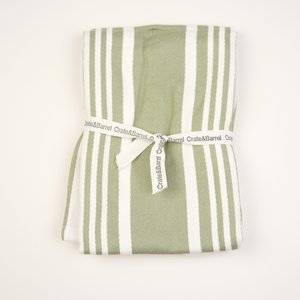 [SALE]〔タオル〕アメリカで大人気! Crate&Barrel Cuisine Stripe Sage Green Dish Towels ニューヨーク 買付 |airleaf