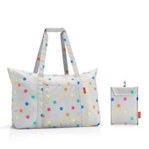 [プレミアムSALE]〔送料無料〕reisenthel Mini Maxi Travelbag Stonegrey Dotsミニマキシ トラベルバッグ ドイツ 買付 いい買い物の日 2018|airleaf