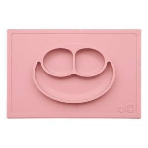 ezpz (イージーピージー) happy mat ローズピンク 驚きの吸着でひっくり返らない! ベビー食器 シリコン製 ランチョンマット プレゼント ギフト|airleaf