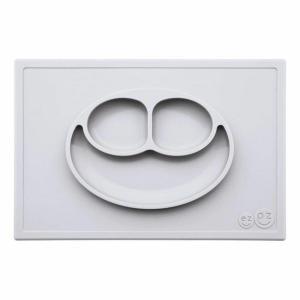 ezpz (イージーピージー) happy mat ライトグレー 驚きの吸着でひっくり返らない! ベビー食器 シリコン製 ランチョンマット プレゼント ギフト|airleaf