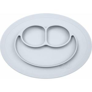 ezpz (イージーピージー)Mini Mat ライトグレー 驚きの吸着でひっくり返らない! ベビー食器 シリコン製 ランチョンマット プレゼント ギフト|airleaf