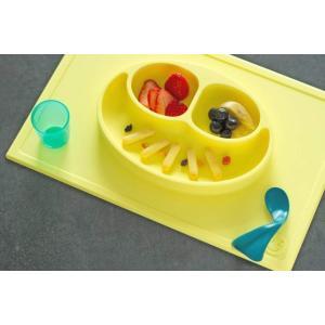 ezpz (イージーピージー)happy mat レモン 驚きの吸着でひっくり返らない! ベビー食器 シリコン製 ランチョンマット プレゼント ギフト|airleaf|02