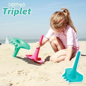 キュート Quut トリプレット Triplet ラグーングリーン QUT-003 キッズ スコップ 砂場 おもちゃ 水遊び アウトドア ひんやり 夏グッズ おしゃれ|airleaf