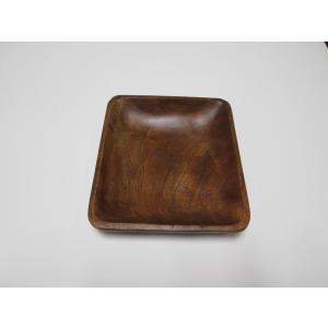 木製アカシア食器  北欧 ナチュラル スクエア AC-2043m Square Plate 17アカシア プレート木目 木製 ウッド キッチン 洋食器 airleaf