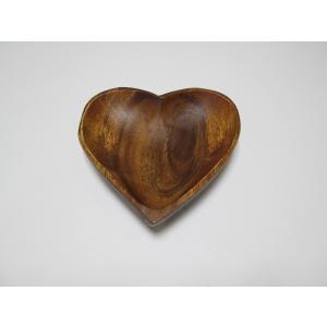 木製アカシア食器 おしゃれ かわいい 北欧 ナチュラル 小物入れ ハートボール AC-9034m  Heart shaped Tray 16アカシア プレート木目 木製 ウッド 洋食器|airleaf
