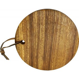 〔木製アカシア食器〕 おしゃれ かわいい 北欧 ナチュラル まな板 プレートボード AC-9035m  Round Cut Board 16アカシア プレート木目|airleaf