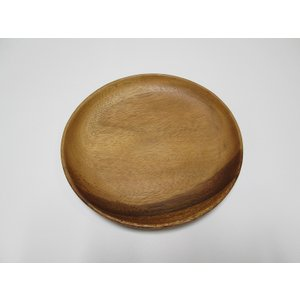 木製アカシア食器 おしゃれ かわいい 北欧 ナチュラル ラウンドプレート AC-1041m Round Plate 23アカシア プレート木目 木製 ウッド キッチン 洋食器|airleaf