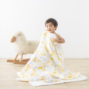 [キッズ・ベビー]オルネット Hug Me おくるみ 3重 ガーゼケット ジラフ キリン イエロー 日本製 出産祝い 男の子 女の子 ガーゼケット|airleaf|04