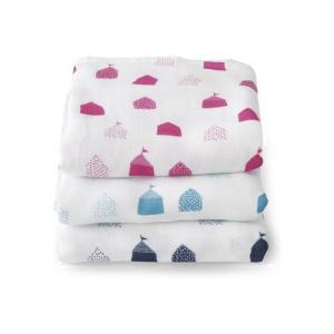 [キッズ・ベビー]オルネット Hug Me おくるみ 3重 ガーゼケット ジラフ ハウス ピンク 日本製 出産祝い 男の子 女の子 ガーゼケット|airleaf