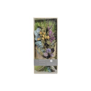 [新商品]BELLES FLEURS JOLIE BLUE ドライフラワー 天然素材 セット ブルー ブーケ 花束 スワッグ 壁飾り インテリア ベルフルールジョリー 花材|airleaf