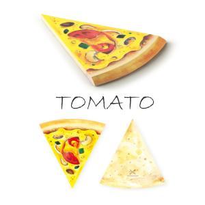 〔新商品〕MEMO PAD PIZZA TOMATO PEN&DELI メモ帳 メモパッド かわいい ユニーク おしゃれ 文房具 ステーショナリー|airleaf