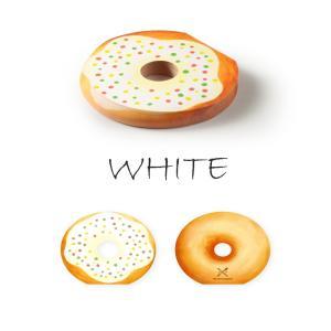 〔新商品〕MEMO PAD DOUGHNUT WHITE PEN&DELI メモ帳 メモパッド かわいい ユニーク おしゃれ 文房具 ステーショナリー|airleaf