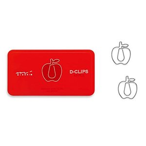 D-CLIPS リンゴ柄  クリップ かわいい 文房具 おしゃれ プレゼント 動物[当日発送可※条件あり※]|airleaf