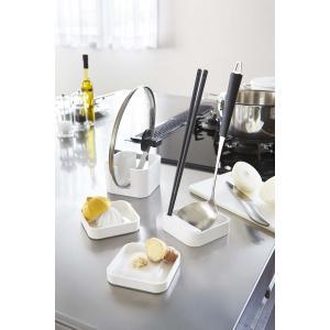 [新商品]調理&お鍋セット タワー ホワイト お鍋セット 置く しぼる おろす 立てる 一台4役 山崎実業 コンパクト収納 キッチン 料理道具|airleaf