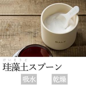 〔珪藻土〕アネスティ Karari 珪藻土 スプーンS(ホワイト)キッチンツール  グッズ 湿気取り 乾燥材 乾燥 スプーン |airleaf