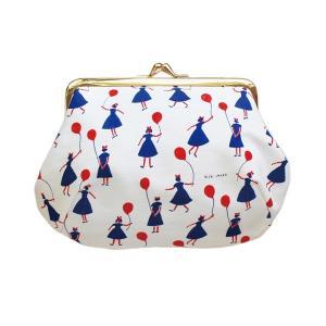 帆布がま口コスメポーチ balloon girl ポーチ コスメポーチ がま口 帆布  プレゼント ギフト  クリスマス雑貨 2018|airleaf
