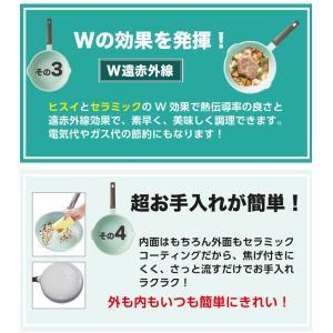 〔送料無料〕アピデ 20cmフライパン ヒスイコーティングキッチンツール ヒスイ セラミック 軽量 熱伝導 遠赤外線 汚れに強い |airleaf|04