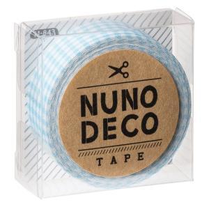 〔新商品〕ヌノデコ デコテープ 布 手芸 みずいろチェック 〔通常発送商品〕〔12時までのご注文で当日発送(土日・祝除く)〕|airleaf