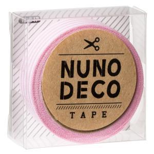 メール便送料無料〔新商品〕ヌノデコ デコテープ 布 手芸 ももいろしましま〔12時までのご注文で当日発送(土日・祝除く)〕|airleaf