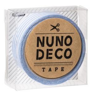 メール便送料無料〔新商品〕ヌノデコ デコテープ 布 手芸 みずいろしましま〔12時までのご注文で当日発送(土日・祝除く)〕|airleaf