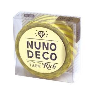 NUNODECO TAPE(ヌノデコテープ)は布に貼ることが出来る、布製のテープ。 布の質感と金箔で...