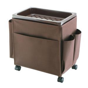 不動技研 サイドテーブルワゴンミニラック2色サイドテーブル 木製フラット天板 キャスター付き 収納 収納ワゴン|airleaf