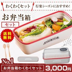お弁当箱×わくわくセット ランチボックス アウトドア お弁当 シンプル 遠足 ピクニック キッチン airleaf