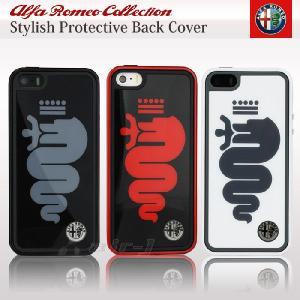 アルファロメオ・公式ライセンス品 iPhone5s iPhone5 専用 ハード ケース ブラック アイフォン5s AR-TPUPCIP5-BI-D1