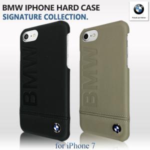 544bc9034a BMW 公式ライセンス品 iPhone7ケース ハードケース アイフォン7ケース 本革 バックカバー iPhone7ケース スマホ レザー ブラック  ブランド