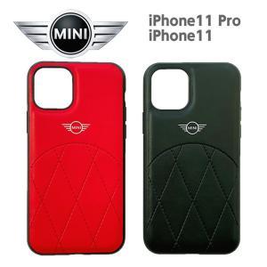 MINI(ミニ) 公式ライセンス品 iPhone11Pro iPhone11 PUレザー 背面ケース バックケース ブランド|airs