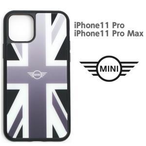 MINI(ミニ) 公式ライセンス品 iPhone11Pro iPhoneProMax 強化ガラス 背面ケース バックケース ユニオンジャック ブランド|airs