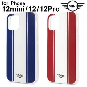 MINI(ミニ)・公式ライセンス品 iPhone12mini iPhone12 iPhone12Pro 5.4 6.1 inch 背面ケース TPU ハードケース  レッド ネイビー【送料無料】|airs