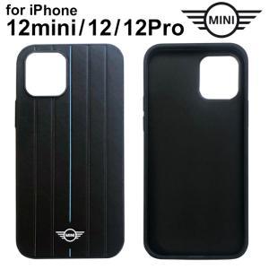 MINI(ミニ)・公式ライセンス品 iPhone12mini iPhone12 iPhone12Pro 5.4 6.1 inch 背面ケース PUレザー ハードケース  【送料無料】|airs
