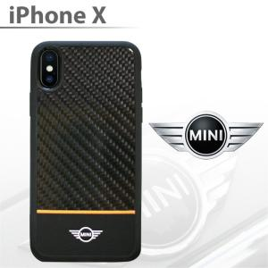 MINI(ミニ) 公式ライセンス品 iPhoneX ハードケース リアルカーボン アイフォンX カバー メンズ ブランド シンプル カバー テン PC TPU PU かっこいい おしゃれ|airs