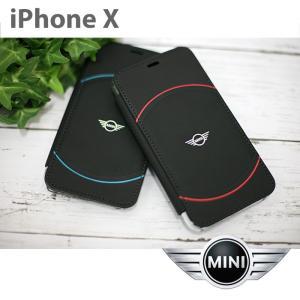 MINI(ミニ) 公式ライセンス品 iPhoneX 手帳型 アイフォンX メンズ ブランド カバー アイフォンテン かっこいい おしゃれ 可愛い 背面クリア|airs