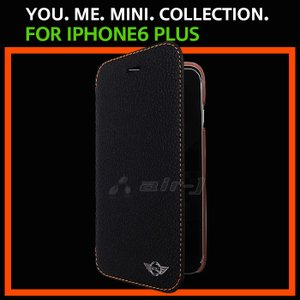 51077f9adc SALE MINI 公式ライセンス iPhone6plus 6sPlusケース 手帳型 革 アイフォン6sプラスケース スマホ  iPhone6Plusソフトレザー メンズ ブランド