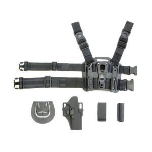 BlackHawkタイプ SERPA CQCレッグホルスター セット (G17/22) BK  BigDragon製|airsoftclub