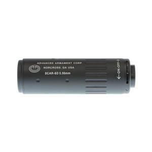 AAC型 5.56Mini4 サイレンサー 112mm 14mm逆ネジフラッシュハイダー付 (BK)  Clone Tech製|airsoftclub|02