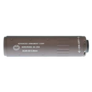 AAC型 SCAR 5.56サイレンサー 141mm 14mm逆ネジフラッシュハイダー付 (CB)  Clone Tech製|airsoftclub|02