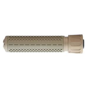 Knight's型 QDCサプレッサー 170mm 14mm逆ネジフラッシュハイダー付 (DE)  Clone Tech製|airsoftclub|02